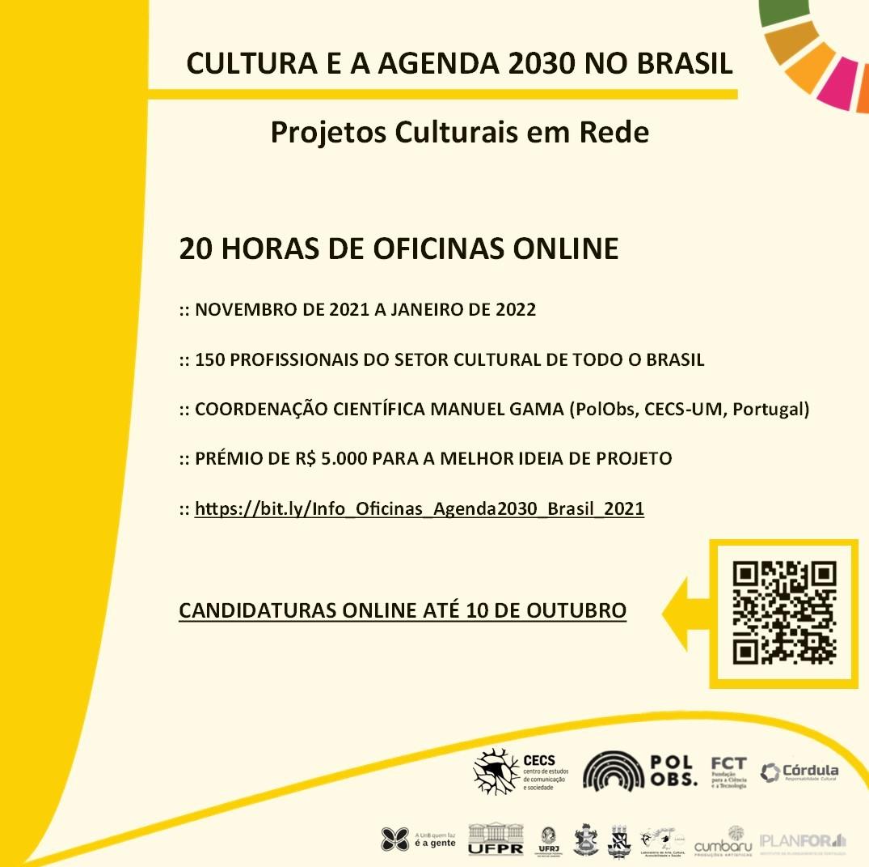 Cultura e a Agenda 2030 no Brasil: 5 macrorregiões em rede!