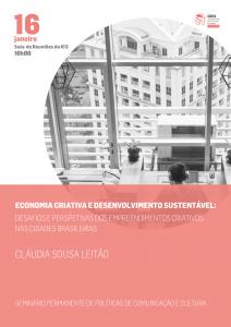 Economia criativa e desenvolvimento sustentável