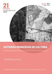 """Seminário POLObs sobre """"Sistemas Municipais de Cultura. Experiências da Política Cultural Participativa no Brasil"""""""