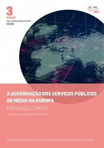"""""""A governação dos serviços públicos de média na Europa"""" em discussão no seminário POLObs"""