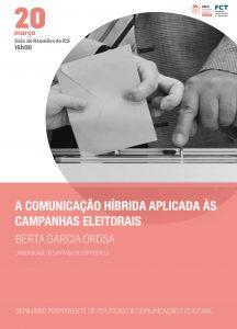 """Seminário POLObs sobre """"A Comunicação híbrida aplicada às campanhas eleitorais"""""""