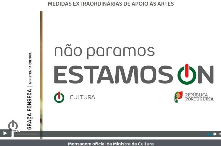 Mensagem oficial da Ministra da Cultura