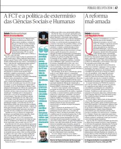 A FCT e a política de extermínio das Ciênicas Sociais e Humanas