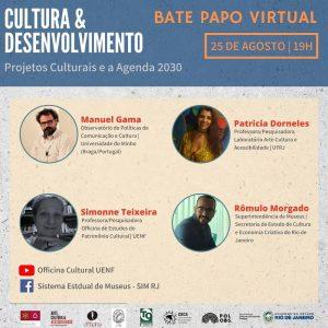 """2CN-CLab Talks """"Projetos Culturais e a Agenda 2030"""", no Brasil durante o mês de agosto"""