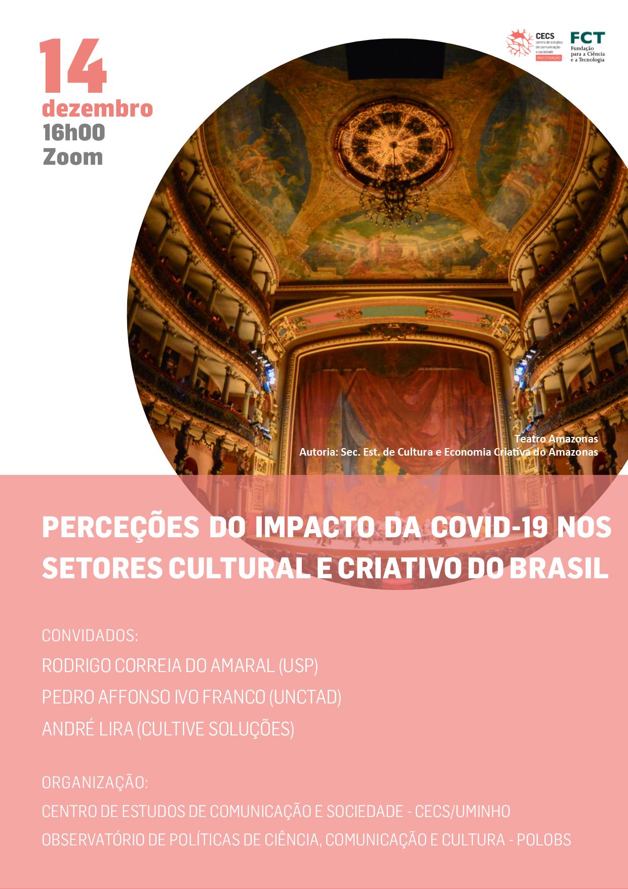 Perceções do impacto da Covid-19 nos setores cultural e criativo do Brasil