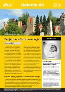Estudos na área da Cultura são destaque no boletim informativo do PolObs