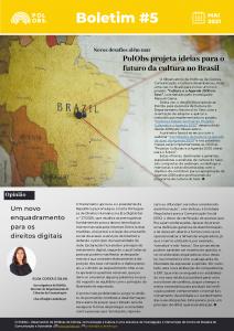 Boletim informativo PolObs: Comunicação e Cultura são destaques