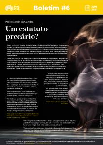 Estatuto dos Profissionais da Área da Cultura é destaque no boletim informativo do PolObs