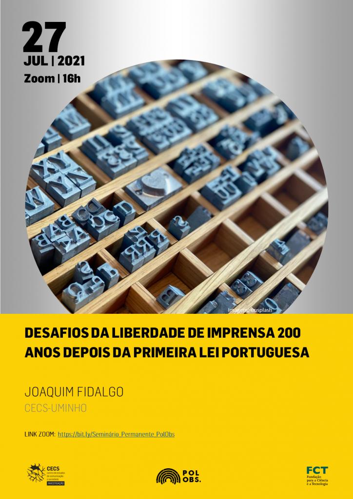 Desafios da liberdade de imprensa 200 anos depois da primeira lei portuguesa