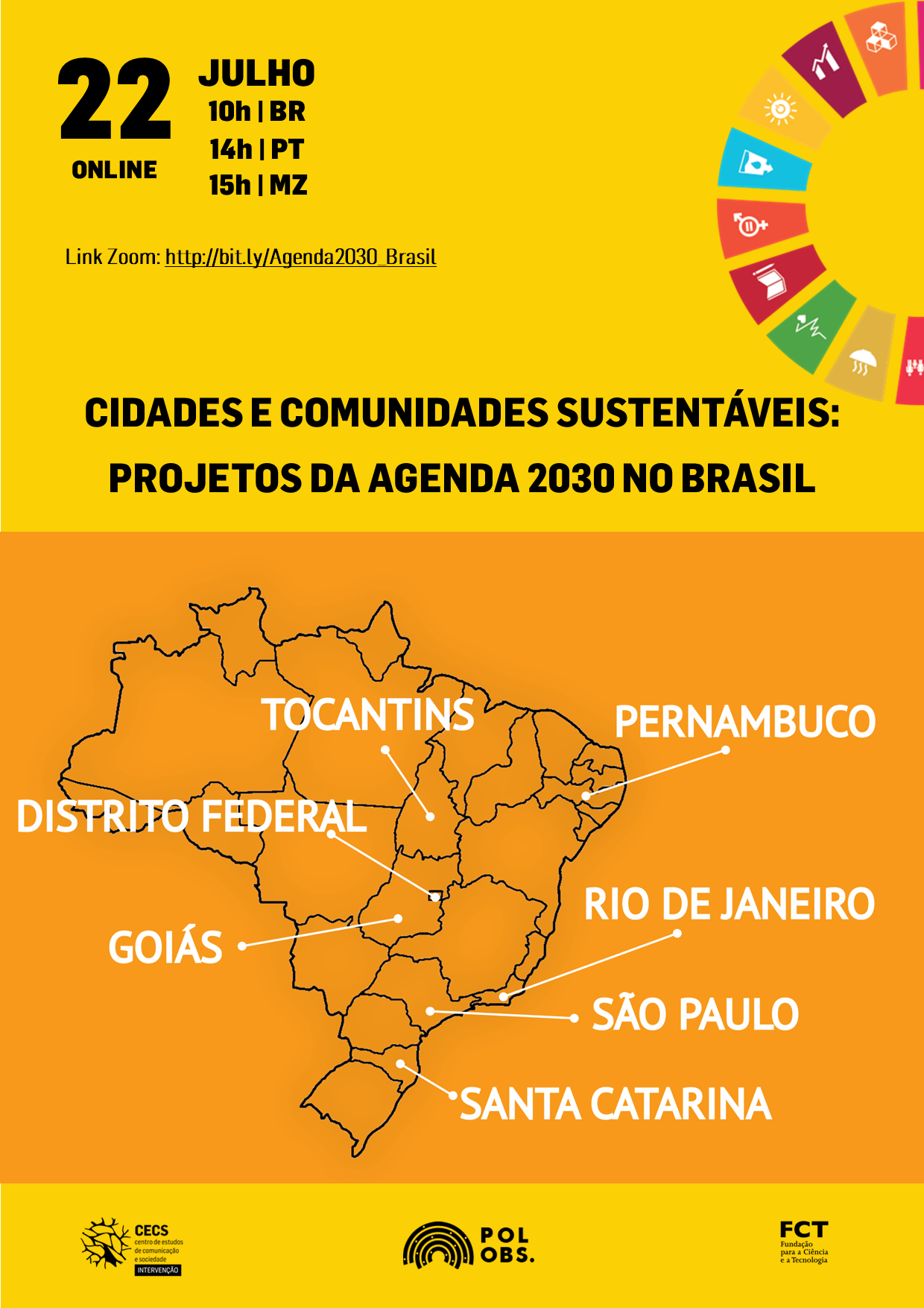 Agenda 2030: seminário apresenta 14 projetos brasileiros sobre cidades e comunidades sustentáveis