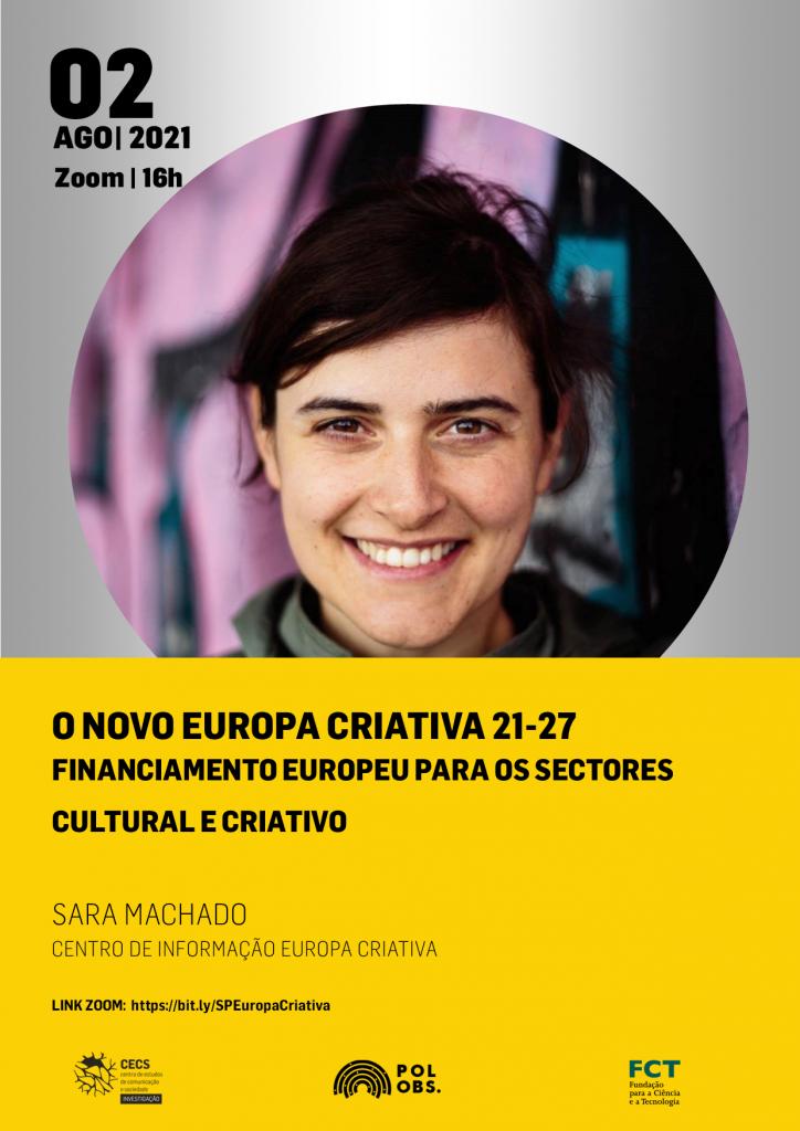 Novo Programa Europa Criativa 2021-2027 é apresentado em Seminário do PolObs