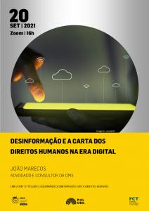 """Seminário """"Desinformação e a Carta dos Direitos Humanos na Era Digital"""