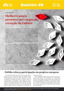 Boletim informativo destaca estudo sobre mulheres nos cargos de decisão autárquica